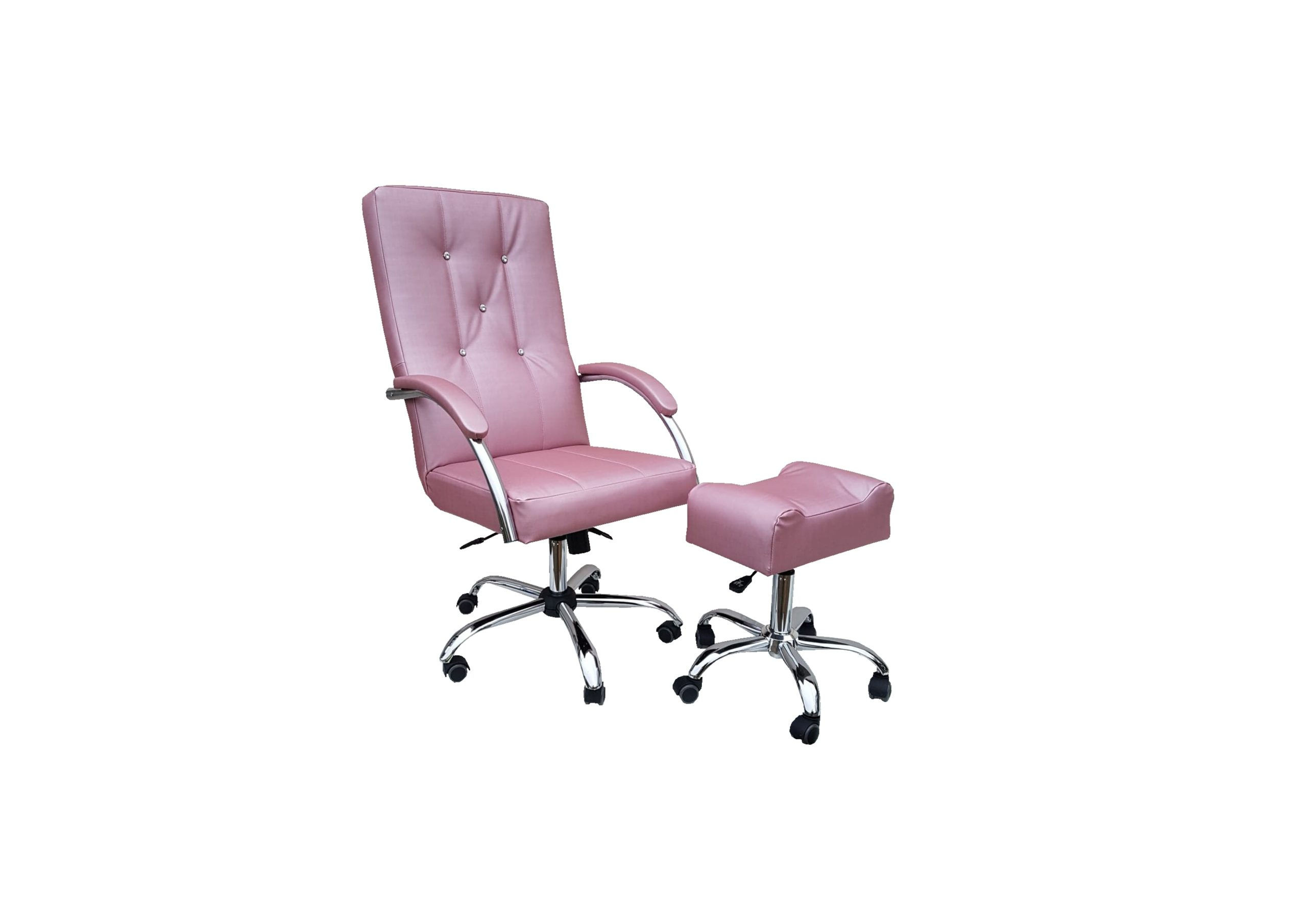 fotel pedicure manicure z podnóżkiem